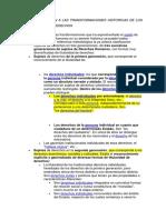 TITULARIDAD DE LOS DERECHOS EN RELACION A LAS TRANSFORMACIONES HISTORICAS DE LOS SUJETOS DE LOS DERECHOS
