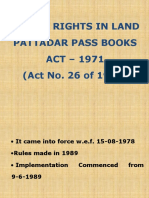 AP Rights in Land Pattadar Pass Books Act 1971 PPT