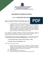 REGIMENTO INTERNO DO PPGG