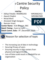 Data Centre Security Policy (ITT Course PPT)