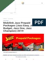 Jazz Prepaid Packages (Jazz Easy, Jazz Budget, Jazz One, Jazz Champion) - Cells.pk (1)