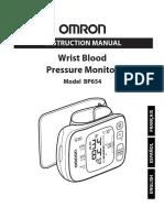 Omron BP654 Manual