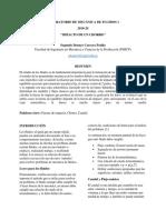 INFORME MECÁNICA DE FLUIDOS -IMPACTO DE UN CHORRO ESPOL