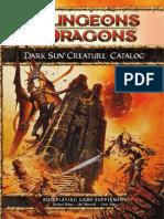 .3 Dark Sun Creature Catalog
