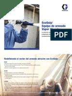 EcoQuip®  Equipo de arenado  Vapor Abrasive®