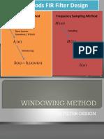 Filter Digital FIR Metode Windowing Pertmuan 1 .ppt