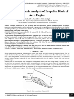 Static and Dynamic Analysis of Propeller Blade of
