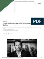 """""""Experiência não paga conta"""", diz presidente da Livraria Cultura _ EXAME"""