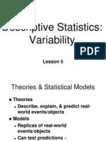 ~SD 05 Descriptive Statistics - Variability