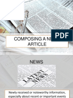 Composing a News Article