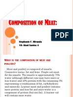Composition of Meat: