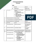 E-Summit ICT Schedule