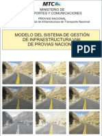 Sistema de Gestion de Infraestructura Vial - SGIV Provias Nacional