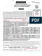 Application Form PWD North Zone