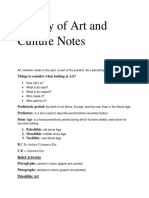 History of Art and Culture Notes