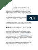 What is School Nursing