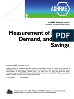 ASHRAE Guideline 14-2014 Measurement of Energy, Demand and Water Savings