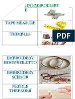 TOOLS USE IN EMBROIDERY