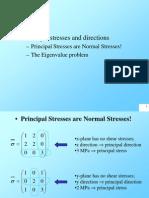 Eigenvalue Principal Stress