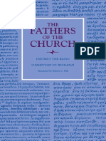 [Fathers of the Church] Didymus, Robert C. Hill - Didymus the Blind_ Commentary on Zechariah (2006, Catholic University of America Press).pdf