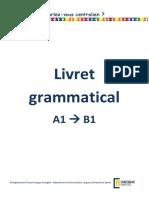 Livret grammatical Masters