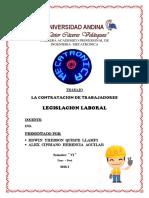 CONTRATACION  DE TRABAJADORES