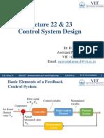 Lecture 22  23 - Control System Design