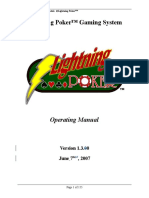 Lightning Poker Gaming System Operating Manual v1.3.x