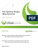 Fire fighting design requirements