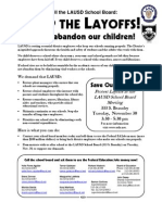 Nov 30 LAUSD RIF Protest Rally at Beaudry