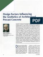 Design Factors Influencing the Aesthetics of Architectural Precast Concrete