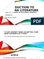 Introduction to African Literature