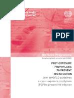 HIV Post-Exposure Prophylaxis
