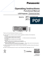 Projector PT-MZ770 Series Operating Instructions English