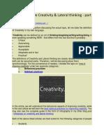 How to improve Creativity.docx