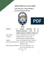 LA TEORIA UNITARIA DE LA RESPONSABILIDAD CIVIL EN EL ORDENAM