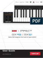 Using Impact GX49-61 with Nektar DAW Integration