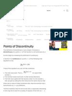 Discontinuities  abc