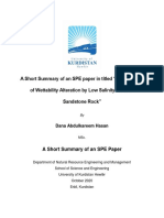 """A Short Summary of an SPE paper in titled """"Investigation of Wettability Alteration by Low Salinity Water in Sandstone Rock"""""""