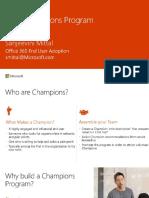 Build your Office 365 Champions Program