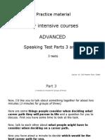 Speaking Parts 3 & 4 Global