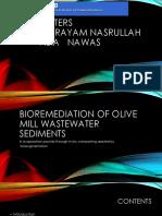 Bioremediation of olive mill wastewater sediments.pptx