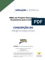 Concepção do projeto executivo - apostila