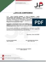 (8) CARTA DE COMPROMISO