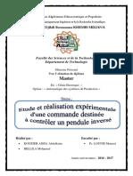 Master 2 - Etude et réalisation expérimentale d'une commande destinée à controler un pendule inversé.pdf
