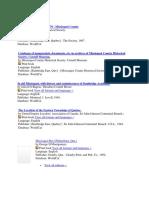 Missisquoi Book List