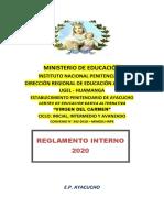 REGLAMENTO INTERNO CEBA 2020