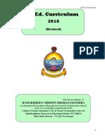 B_Ed Curriculum 2018 - Revised