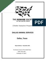 Dallas Animal Services Final Report