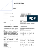 4. Elementos del Álgebra